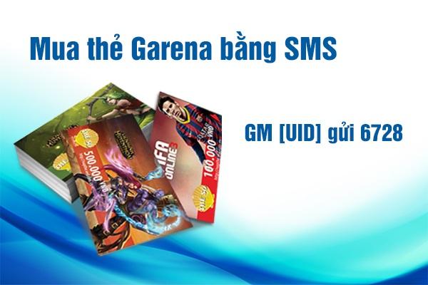 mua thẻ garena bằng tin nhắn