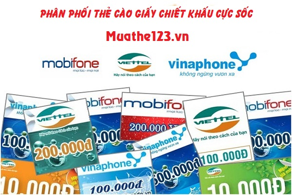 Dịch vụ bán thẻ cào giấy chiếu khấu cực cao tại Muathe123.vn