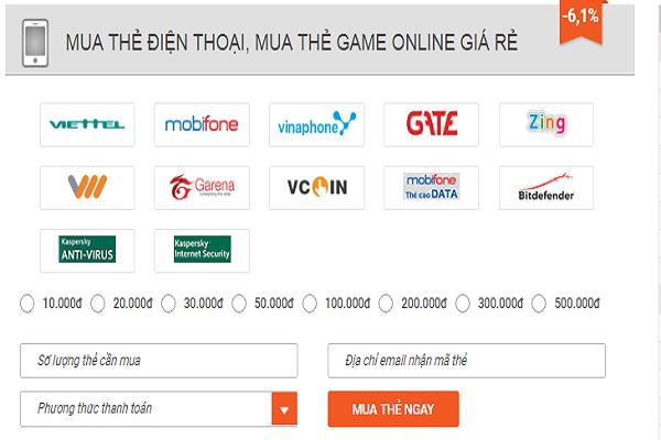 mua mã thẻ game online