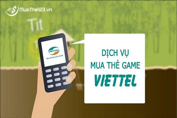dịch vụ mua thẻ game của viettel
