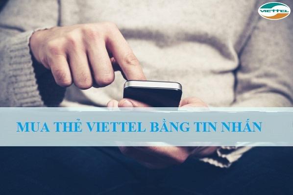 mua thẻ điện thoại viettel bằng tin nhắn