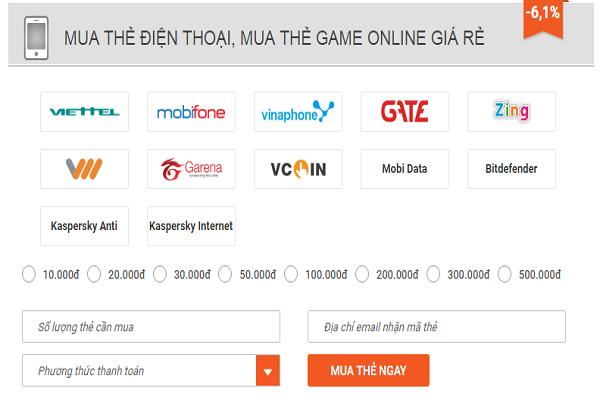 mua mã thẻ mobifone online vietcombank