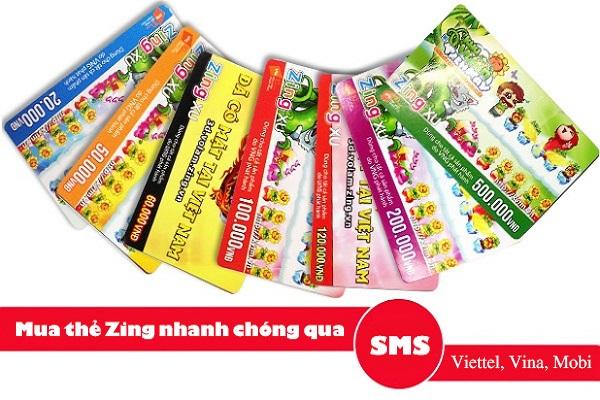 mua thẻ zing bằng sms