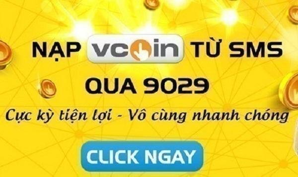 Mua thẻ vcoin bằng sms Mobifone nhanh nhất