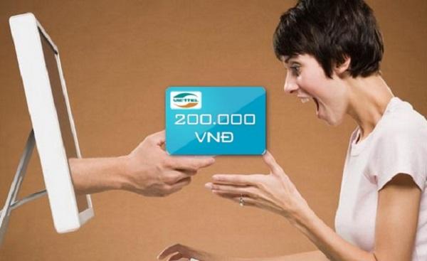 mua thẻ viettel qua vietcombank