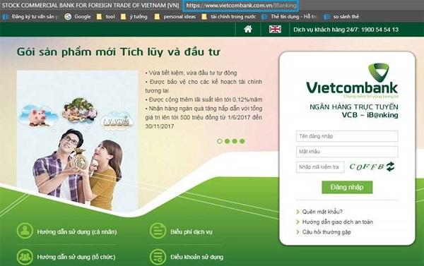 internet banking vietcombank login