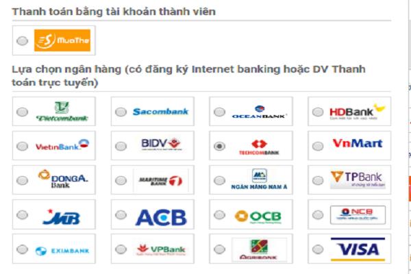 nạp thẻ điện thoạiTechcombank
