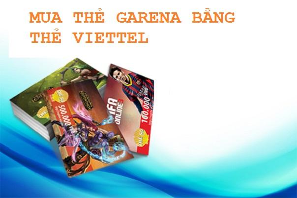 mua thẻ cào garena bằng thẻ viettel