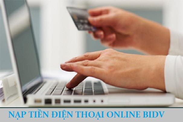 nạp tiền điện thoại online bidv