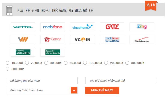 cách mua mã thẻ cào Viettel qua bankplus