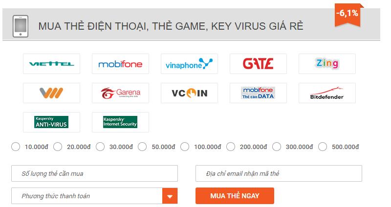 mua mã thẻ bằng sms mobi