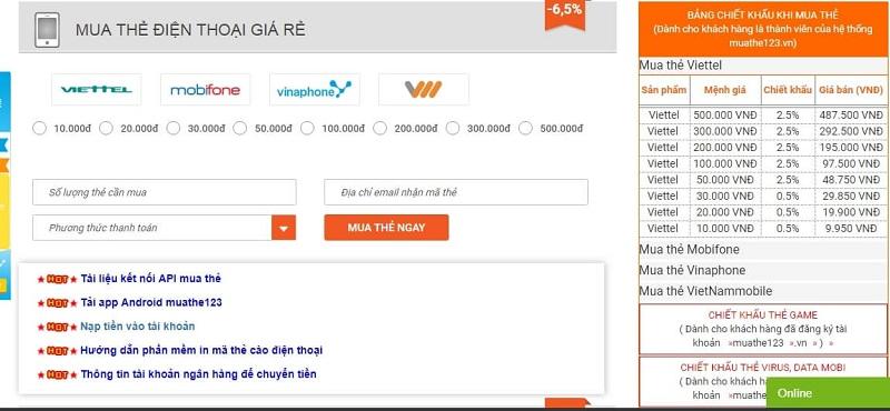 Lựa chọn mua thẻ điện thoại ở nước ngoài từ muathe123.vn