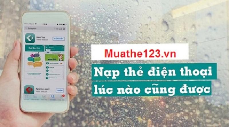 Mua thẻ điện thoại bằng internet banking thông qua muathe123.vn