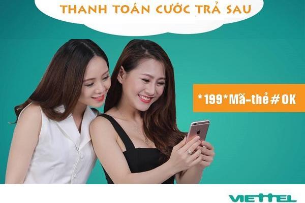 Hướng dẫn cách nạp thẻ điện thoại Viettel cho thuê bao trả sau