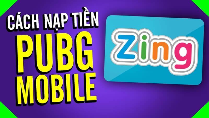 Nạp tiền PUBG qua thẻ nạp Zing trên muathe123.vn