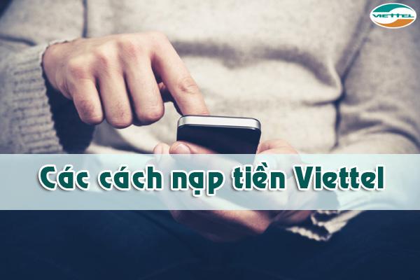 nạp tiền điện thoại 3g viettel
