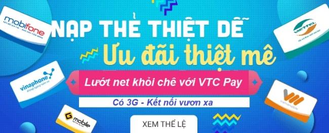 Mua thẻ 3G Mobifone siêu nhanh và tiết kiệm qua ứng dụng VTC Pay