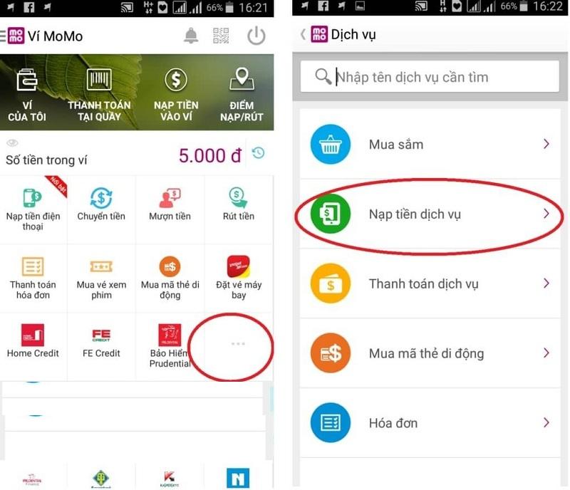 Ứng dụng Momo – Giúp bạn mua thẻ game không giới hạn